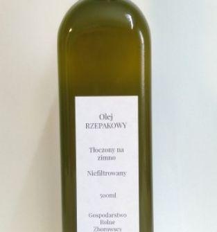 Olej rzepakowy zimnotłoczony 500ml