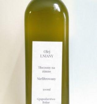 Olej lniany zimnotloczony 500ml