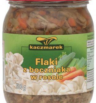 Flaki z boczniaka w rosole Kaczmarek, 500 g