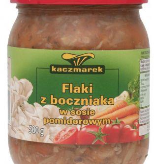 Flaki z boczniaka w sosie pomidorowym, 500 g