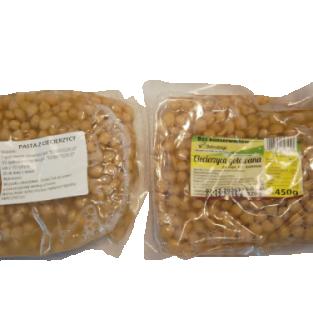 Ciecierzyca gotowana, pakowana próżniowo, nie zawiera glutenu, bez konserwantów