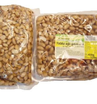 Soja gotowana, pakowana próżniowo, nie zawiera glutenu, bez konserwantów, wolne od GMO