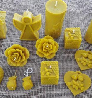 Świeczki z naturalnego wosku pszczelego